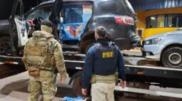 Três carros utilizados para contrabando são apreendidos, em Terra Roxa