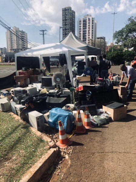Campanha social recolhe 3,5 toneladas de lixo eletrônico, em Londrina