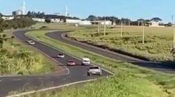 Oeste: Vídeo mostra condutor dirigindo na contramão da BR-467