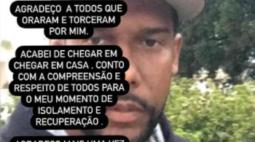 Ex-goleiro Aranha se recupera da covid-19 e recebe alta do hospital