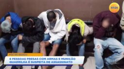 Polícia prende seis pessoas com armas e munição: quadrilha é suspeita de assassinato em Foz