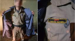 Com farda antiga e armas de brinquedo, jovem de 20 anos é preso como falso capitão da PMPR