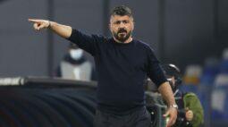 Após 23 dias, Fiorentina anuncia que Gattuso deixa o comando da equipe