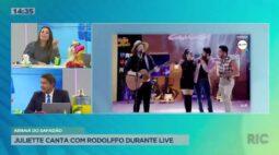 Juliette canta com Rodolffo durante live de Safadão