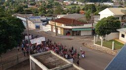 Contra PL 490, indígenas fazem manifestação em Guaíra