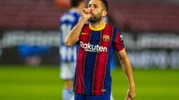 Internazionale estuda contratação de lateral Jordi Alba, do Barcelona