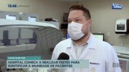 Covid: hospital começa a realizar testes para identificar a imunidade de pacientes em Foz do Iguaçu