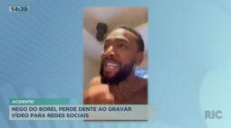 Nego do Borel perde dente ao gravar vídeo para redes sociais