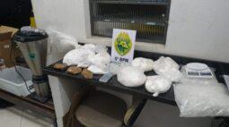 Laboratório de drogas é fechado pela Polícia Militar, em Cambé