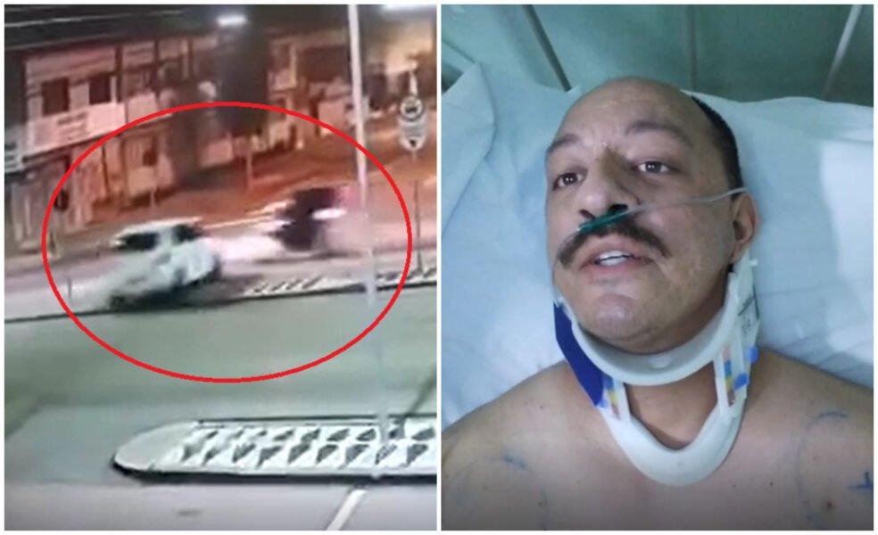 Após atingir motoboy, motorista embriagada teria desmaiado no volante, dizem testemunhas