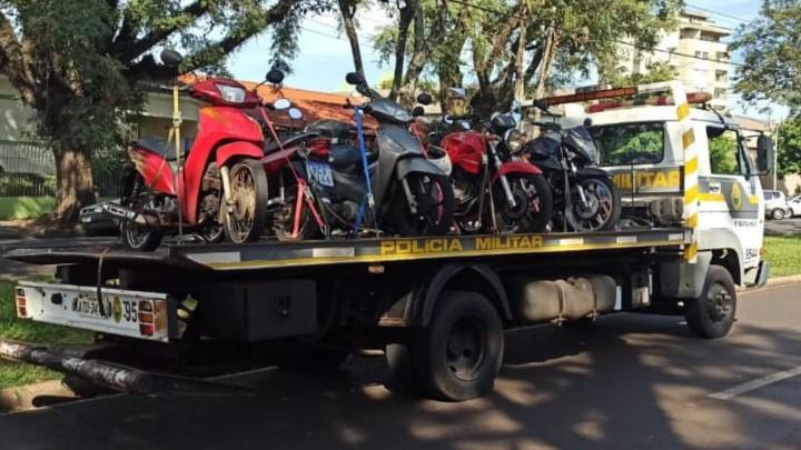 PM apreende 192 motos irregulares durante o mês de maio, em Londrina e região