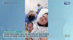 Jovem descobre que vai ser mãe apenas seis horas antes do bebê nascer