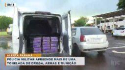 Polícia Militar apreende mais de uma tonelada de droga, armas e munição