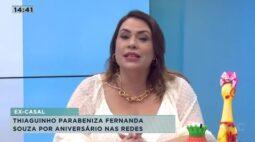 Thiaguinho parabeniza Fernanda Souza por aniversário nas redes