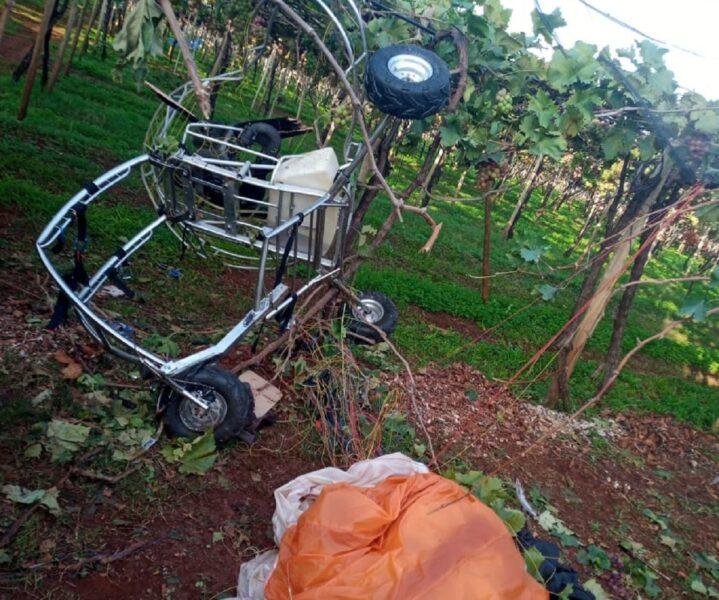 Morre empresário que caiu de paramotor em Marialva