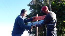 Veja como ficou a Estrada São Rafael, em Rolândia, após instalação de placas