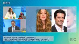 Marina Ruy Barbosa confirma relacionamento após comentário em foto
