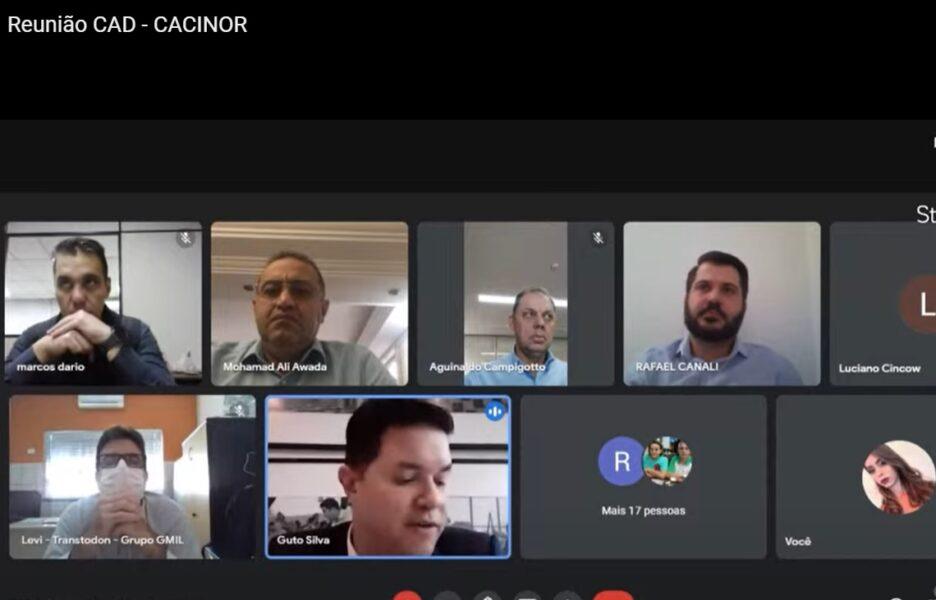 Guto Silva realiza encontro com a Cacinor para definir novas demandas às regiões Norte e Noroeste