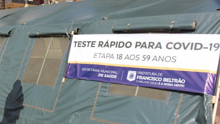 Francisco Beltrão inicia testagem em massa da população na quinta-feira (17)