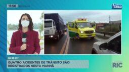 Quatro acidentes de trânsito são registrados nesta manhã em Cascavel