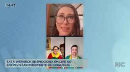 Tatá Werneck se emociona em live, ao entrevistar intérprete de Chiquinha