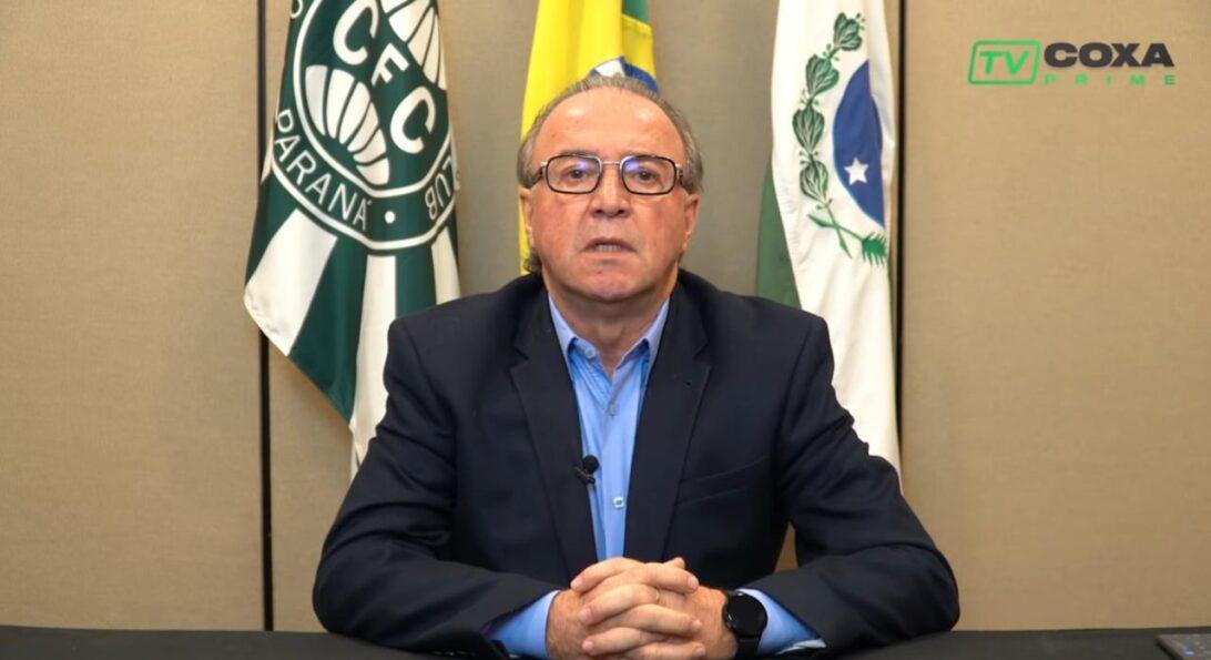 Presidente do Coritiba testa positivo para covid-19