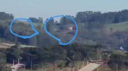 OVNIs são vistos por amigos em Chapecó (SC); veja os vídeos