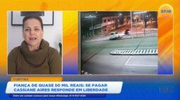 Se pagar fiança de quase 50 mil reais Cassiane Aires responde em liberdade por atropelar motoboy
