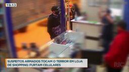 Bandidos armados assaltam loja em shopping para levar iphones