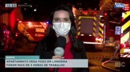 Apartamento pega fogo em Londrina: foram mais de 3 horas de trabalho