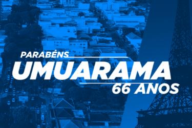 No aniversário de 66 anos de Umuarama, Zaeli destaca mais de meio século de amizade