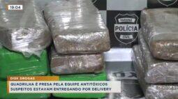 Quadrilha é presa pela equipe antitóxicos, suspeitos estavam entregando por delivery