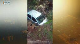 Motorista perde controle da direção e capota carro, uma idosa morreu