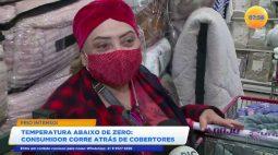 Consumidor corre atrás de cobertores depois de previsões de temperatura abaixo de zero