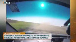 Câmera flagra perseguição à caminhonete roubada por estradas da grande Curitiba