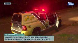 Homem fica ferido após ser esfaqueado em bar no Bairro Santa Cruz, em Cascavel