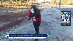 Onda de frio: temperaturas despencam e termômetros marcam abaixo de zero com geada