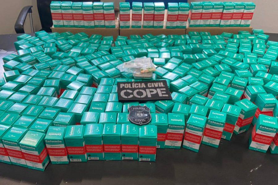 Medicamento utilizado na fabricação de entorpecentes é apreendido, em Campina Grande do Sul