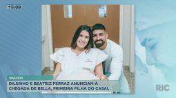 Dilsinho e Beatriz Ferraz anunciam a chegada de Bella, primeira filha do casal