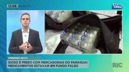 Idoso é preso com mercadorias do Paraguai medicamentos estavam em fundo falso