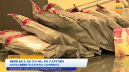 Rede doa 120 mil reais em cartões com créditos para compras