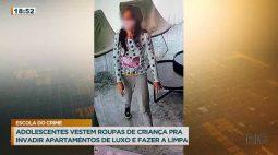 Adolescentes vestem roupas de criança pra invadir apartamentos de luxo e roubar tudo