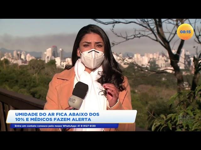 Umidade do ar fica abaixo dos 10% e médicos fazem alerta