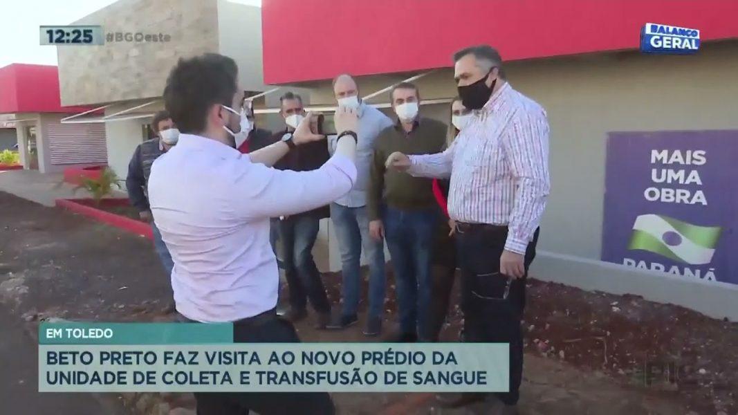 Beto Preto faz visita ao novo prédio da unidade de coleta e transfusão de sangue