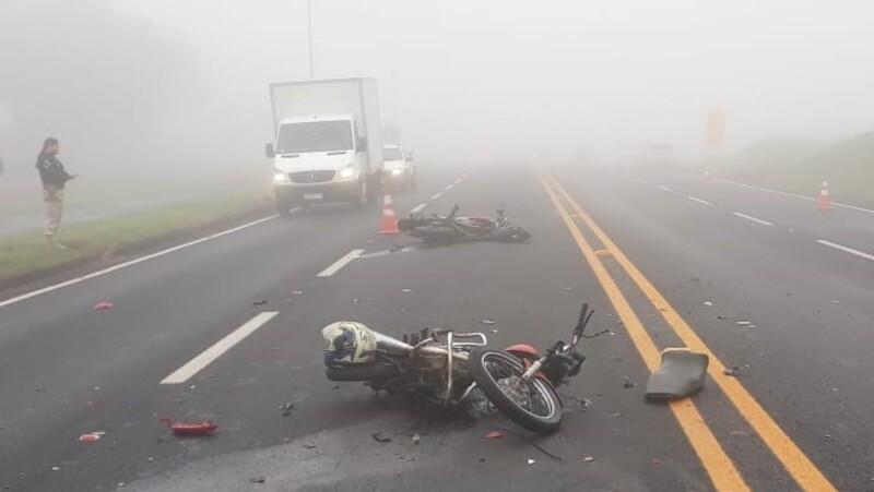 Motociclista sofre acidente em Arapongas e é levado para hospital em estado grave