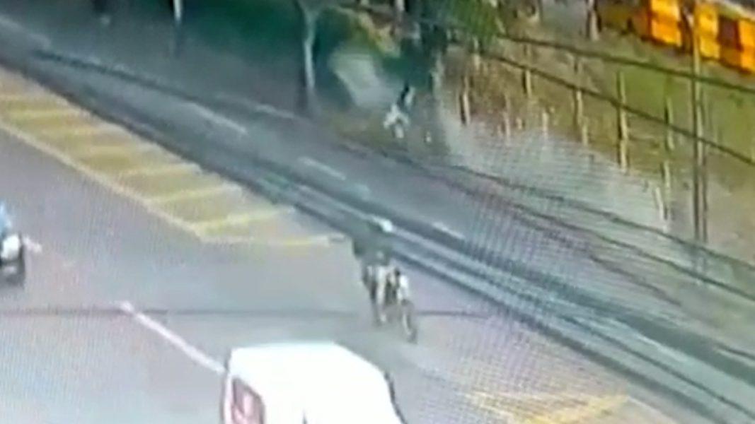 Câmera flagra acidente na BR-369, em Apucarana (PR); motociclista de 42 anos morreu
