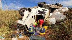 Duas pessoas ficam feridas em grave acidente na PR-445, em Cambé