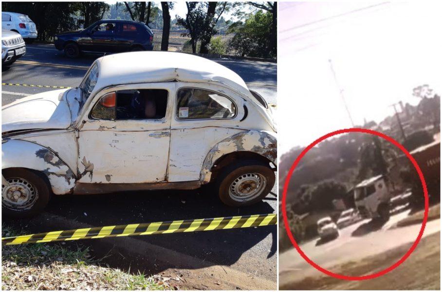 Motorista morre após grave acidente em Cantagalo (PR); veja imagens