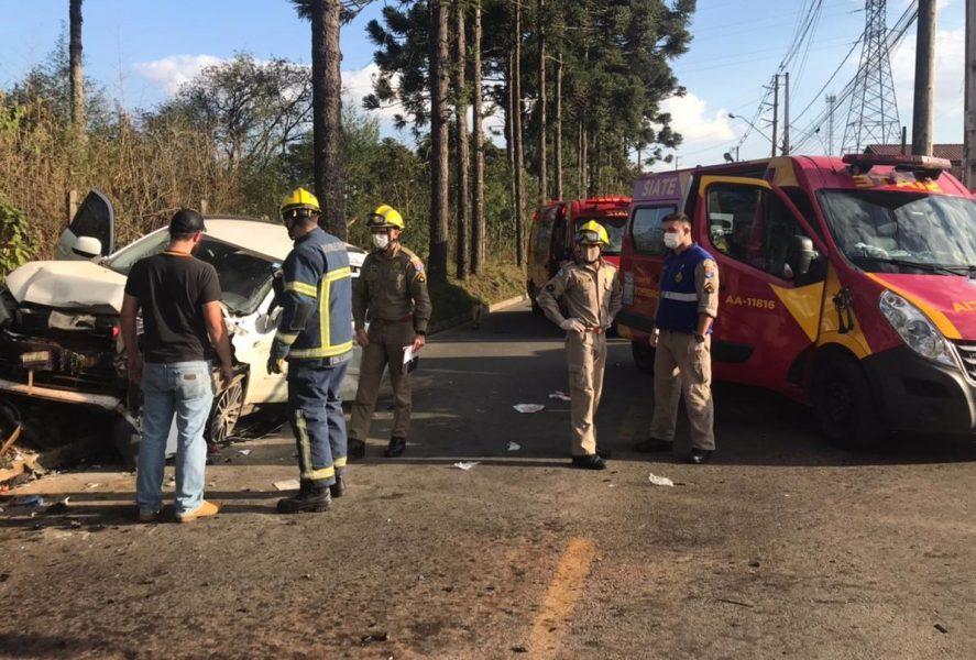 Grave acidente em São José dos Pinhais deixa seis pessoas feridas