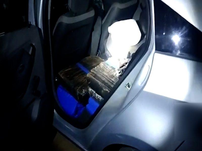 PRF de Maringá prende homem com 306 quilos de maconha em porta-malas; veja vídeo
